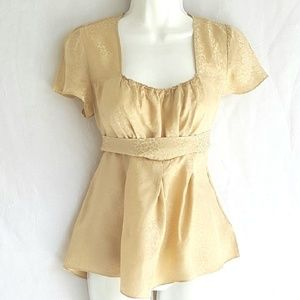 Express blouse, size M, gold, great condition.